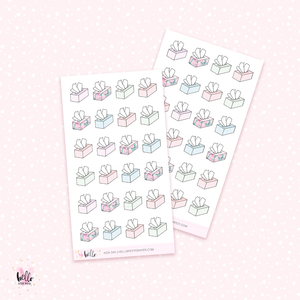 Sick day - mini planner stickers