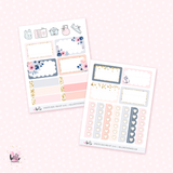 Smooth Seas MINI KIT - planner stickers (4 sheets)