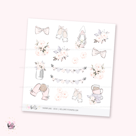 Snowflake - Kit deco, planner stickers