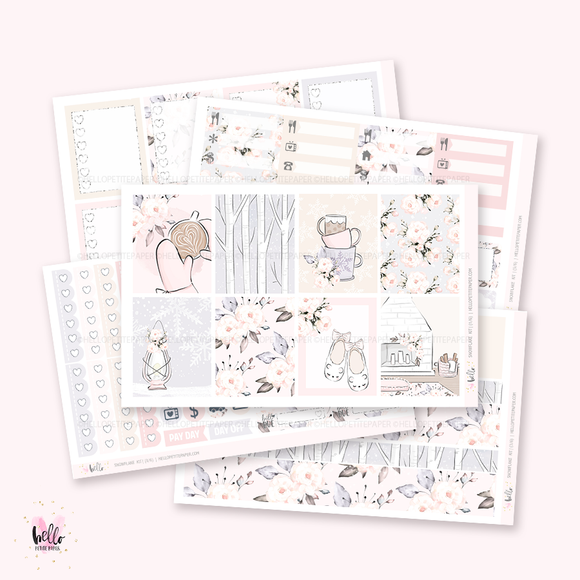 Snowflake - planner sticker kit