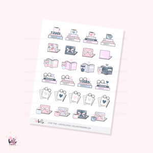 Study/Work (Constellation) - planner stickers