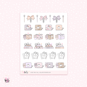 Study/Work (Fall) - planner stickers