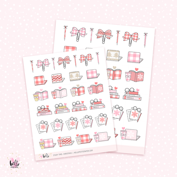 Christmas Study/work - planner stickers