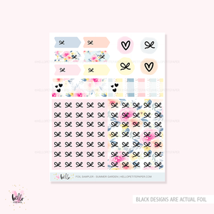 FOIL sampler (Summer Gardencolor scheme)  / 26 sticker sheet