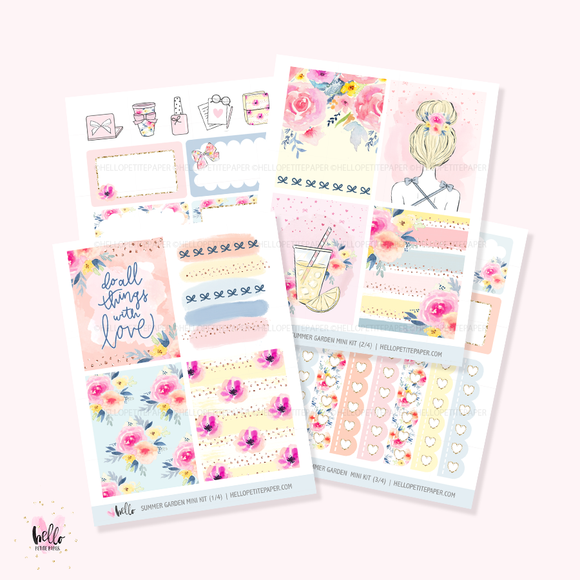 Summer Garden  - Mini sticker kit