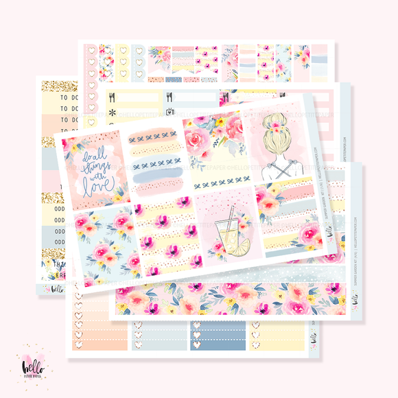 Summer Garden Sticker Kit