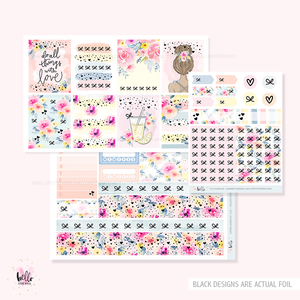 FOILED Summer Garden  - GLOSSY sticker kit - limited edition