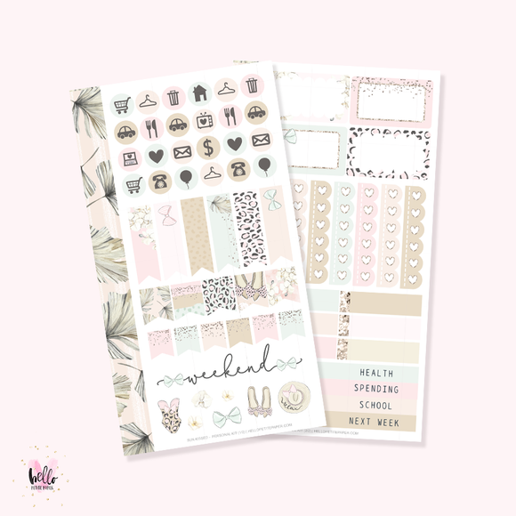 Sun Kissed - Personal size sticker kit
