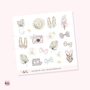 Sun Kissed  - Kit deco, planner stickers