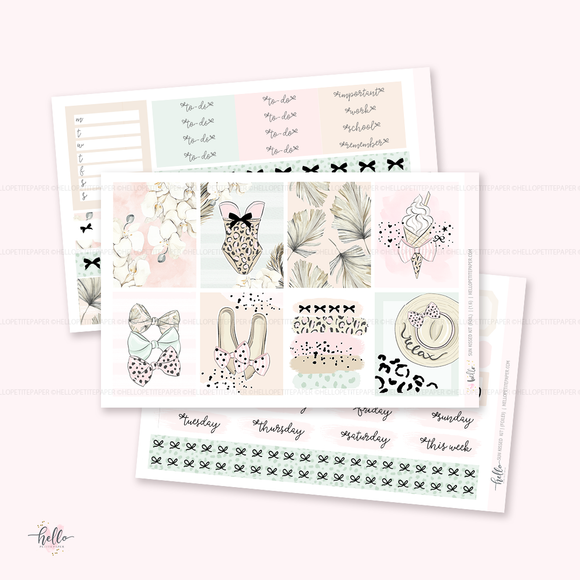Sunkissed FOILED sticker kit | glossy 5 sheets (limited edition)