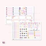 FOILED Sunny Days  - GLOSSY sticker kit - limited edition