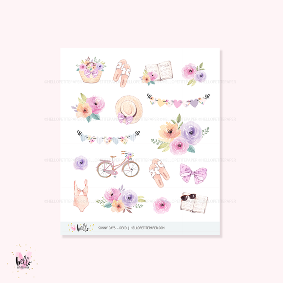 Sunny Days  - Kit deco, planner stickers