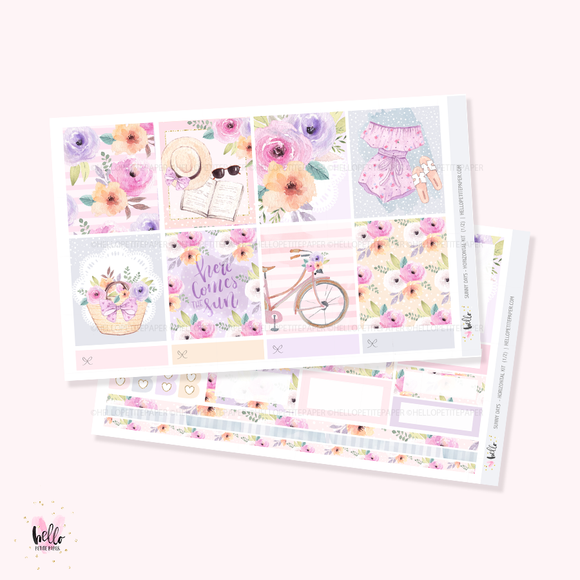 Sunny Days - Horizontal sticker kit