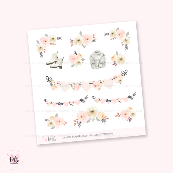 Sweater Weather - Kit deco, planner stickers