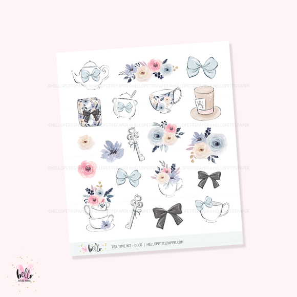 Tea time - Kit deco, planner stickers