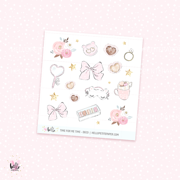 Time for me time -  deco, planner stickers