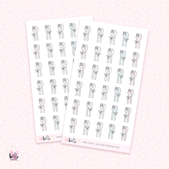 Time to eat - mini planner stickers