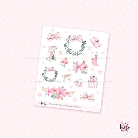Tis the Season - Kit deco, planner stickers
