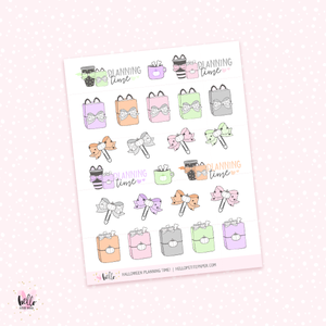 Halloween Planning time - planner stickers