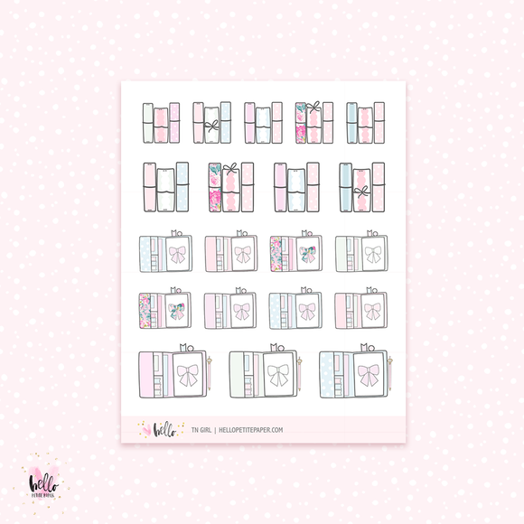 TN Girl - planner stickers