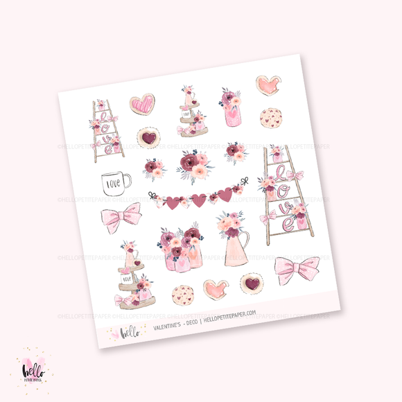 Valentine's - Kit deco, planner stickers