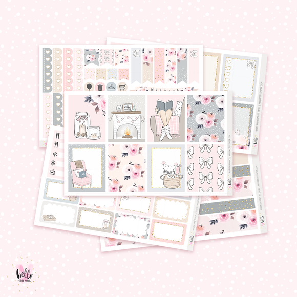 Warm and Cozy sticker kit