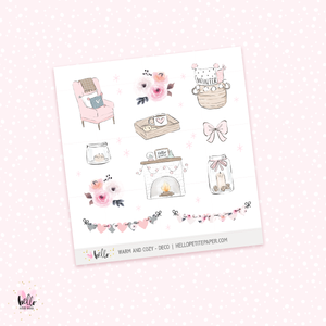 Warm and Cozy  -  deco, planner stickers