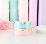 Gold foil washi tape - bows & stars (one)