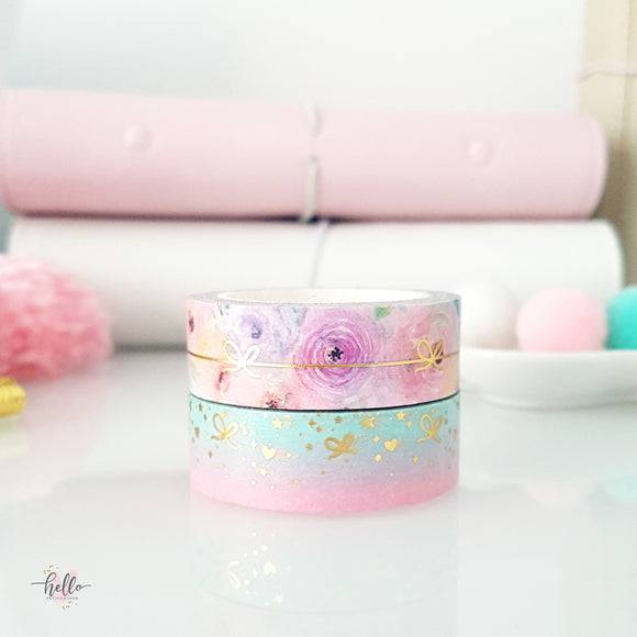 Planning Time Washi Tape SET | Exclusive Gold Foil Washi Tape (2 tapes, set)