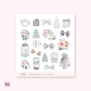 Winter Wishes - Kit deco, planner stickers