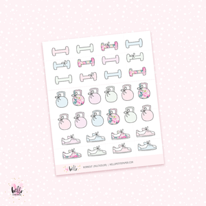 Workout - planner stickers