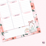 A5 Weekly Notepad - Christmas - desk planner/ agenda