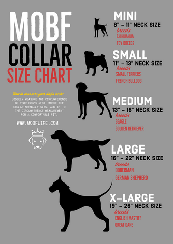 VRBH Dog Collar Sizing Guide