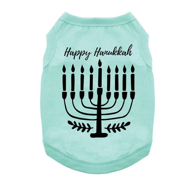 Happy Hanukkah Pet Shirt