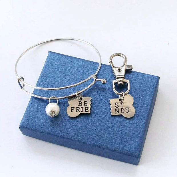 Best Friends Matching Owner and Dog Bracelet and Charm Set