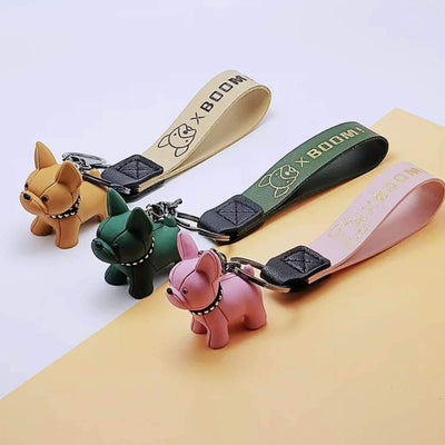 MIniature French Bulldog Keychain