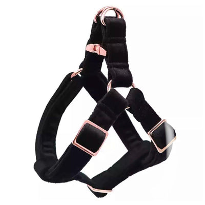 The Black Velvet Luxe Step-In Dog Harness