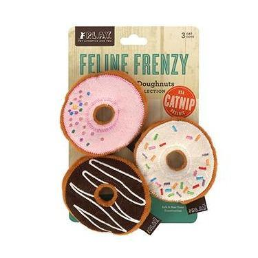 Feline Frenzy - Kitty Kreme Doughnuts Plush Cat Toys