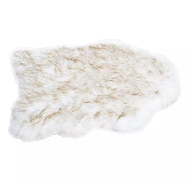 Dog Beds - Faux Fur Orthopedic Curved Pillow Dog Bed