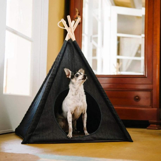 Dog Beds - Teepee Pet Tent - Urban Denim