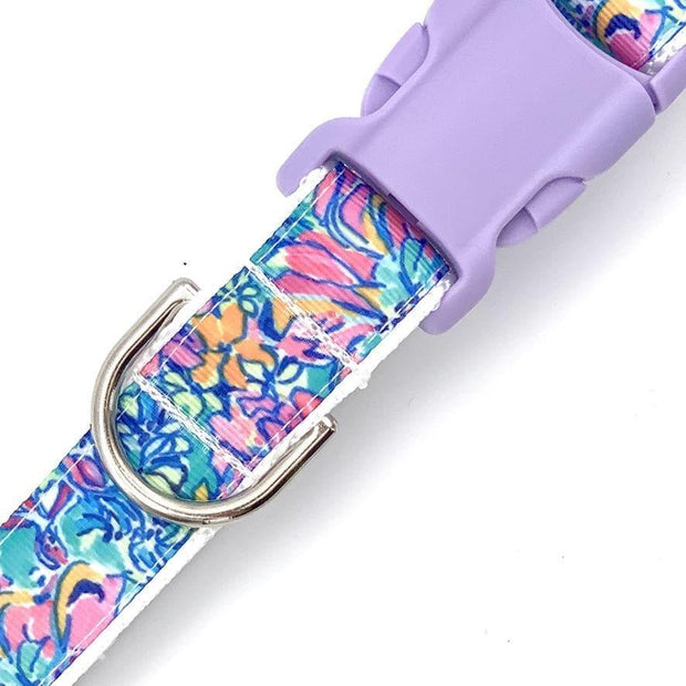 Dog Collars - Abstract Flowers Dog Collar