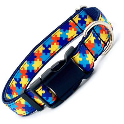 Dog Collars - Autism Awareness Dog Collar
