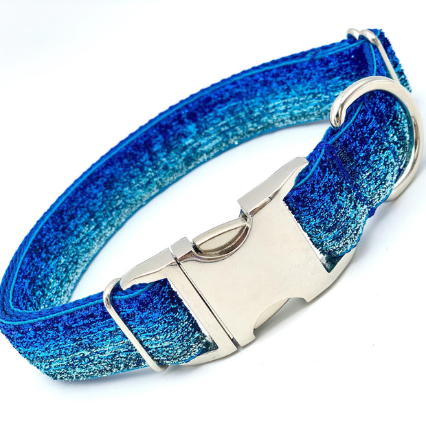 Dog Collars - Blue Hue Ombre Dog Collar