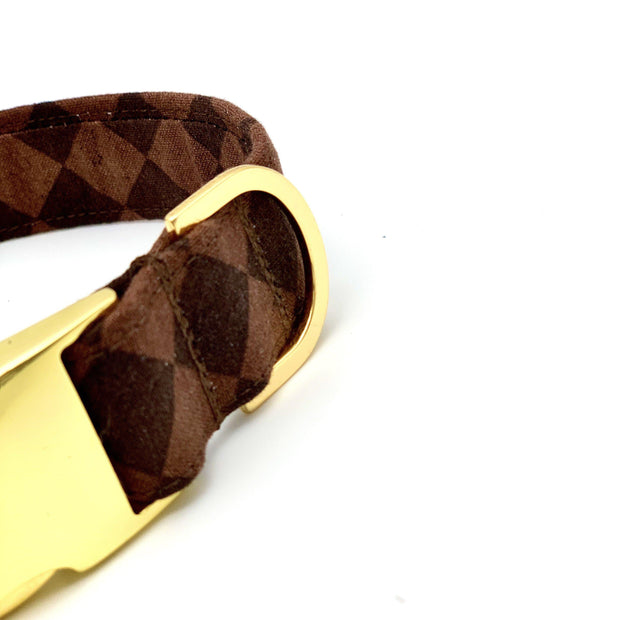 Dog Collars - Checkerboard Designer Inspired Dog Collar