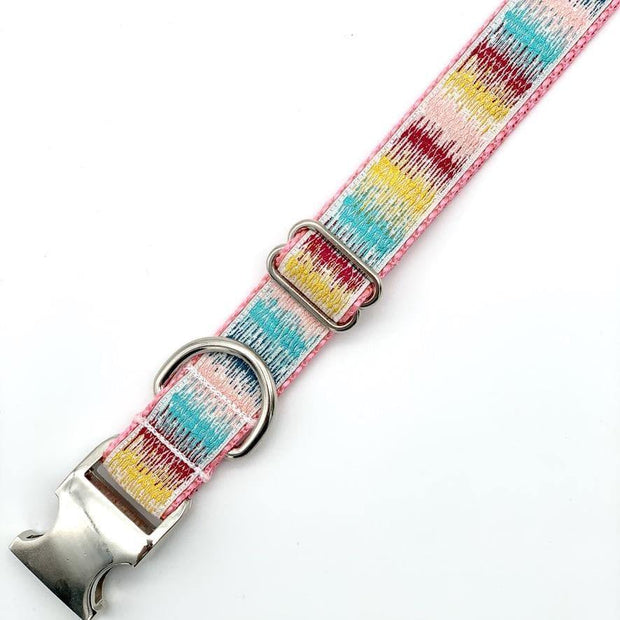 Dog Collars - Colorful Sunset Embroidered Dog Collar