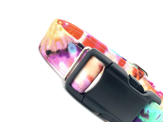 Dog Collars - Colorful Tie-Dye Dog Collar