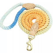 Dog Collars - Colorful Twisted Cotton Rope Leash