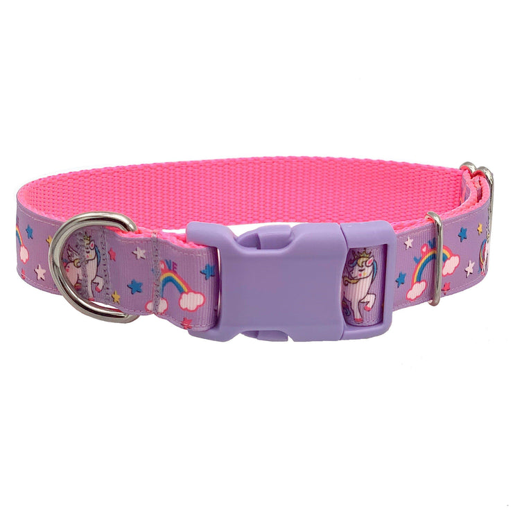 Dog Collars - Enchanted Unicorn Rainbow Dog Collar