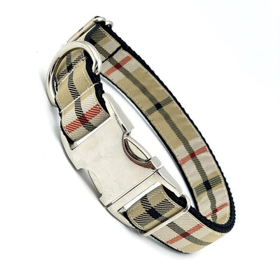 Dog Collars - Furberry Plaid Dog Collar