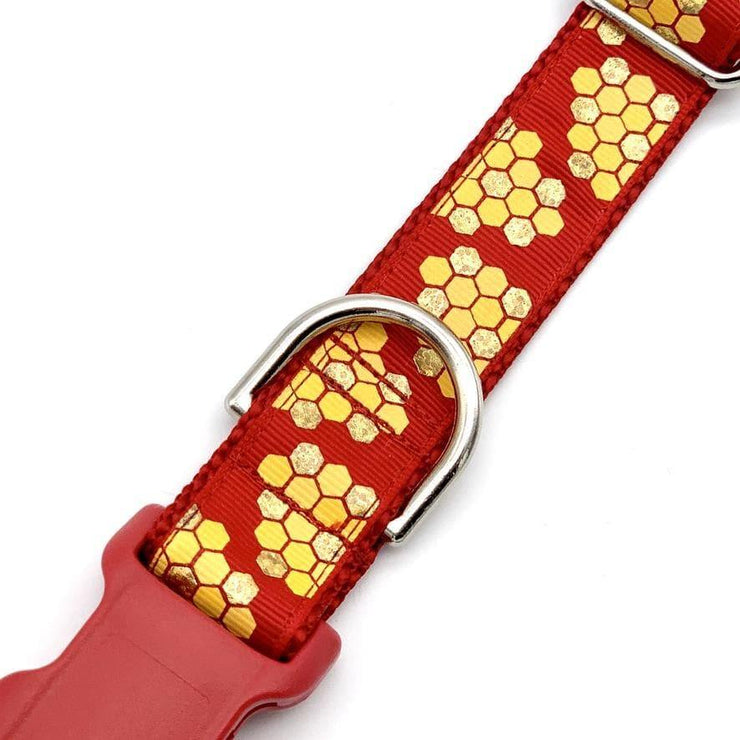 Dog Collars - Golden Honeycombs Dog Collar